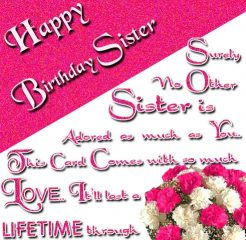 Excellent Birthday Wishes For Sister 2016