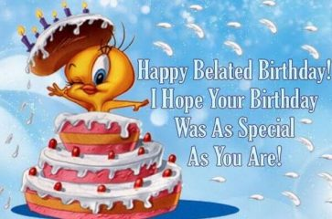 Happy Belated Birthday Wishes 2017