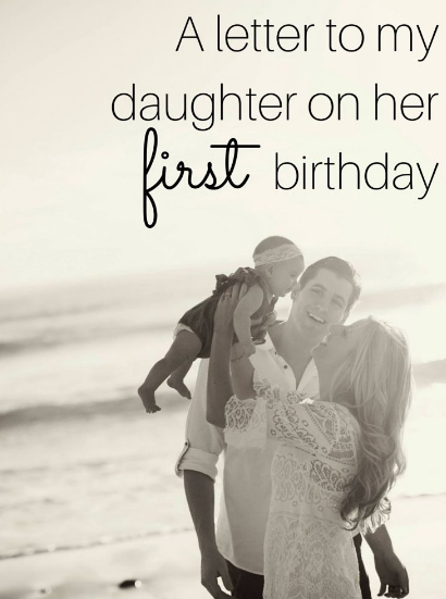 1st Birthday Wishes For Daughter From Parents