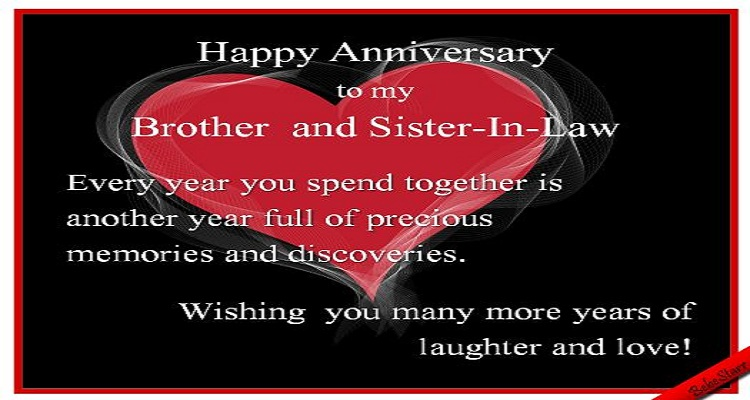 Anniversary Wishes For Brother And Sister In Law Wishes