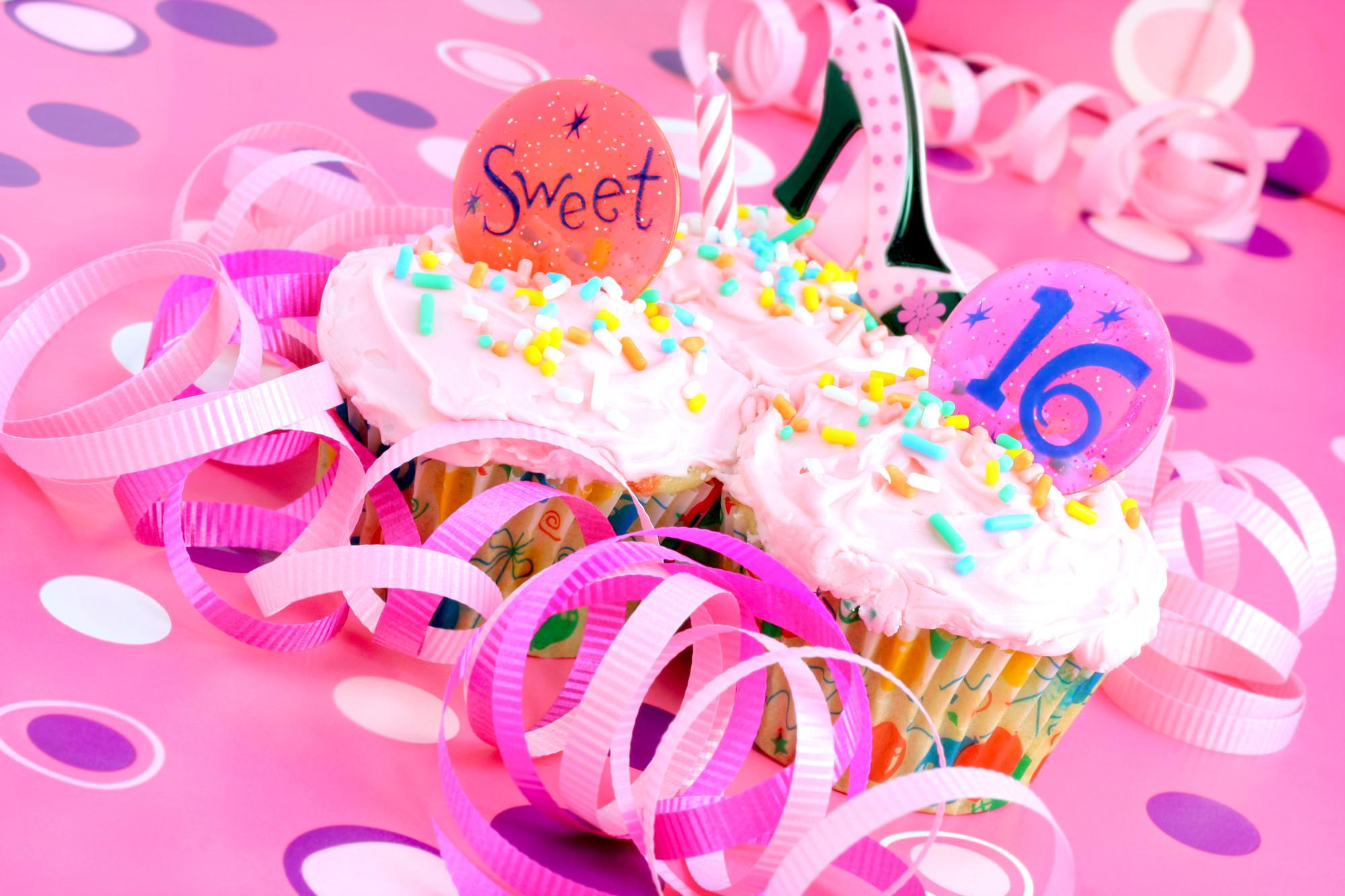 sweet 16 birthday cupcakes