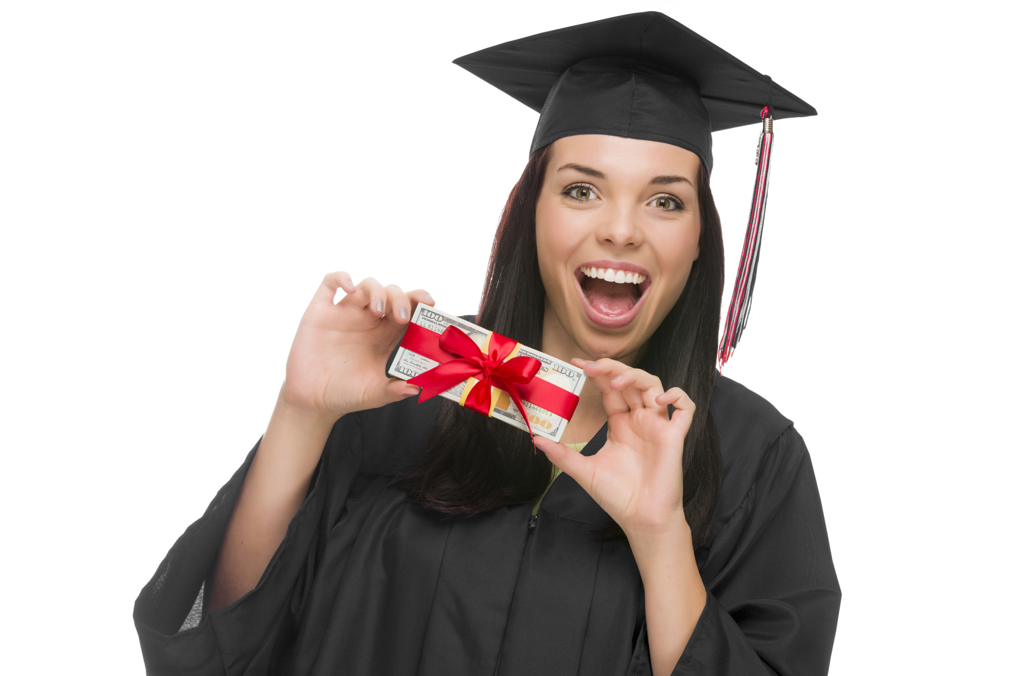 graduate with gift money
