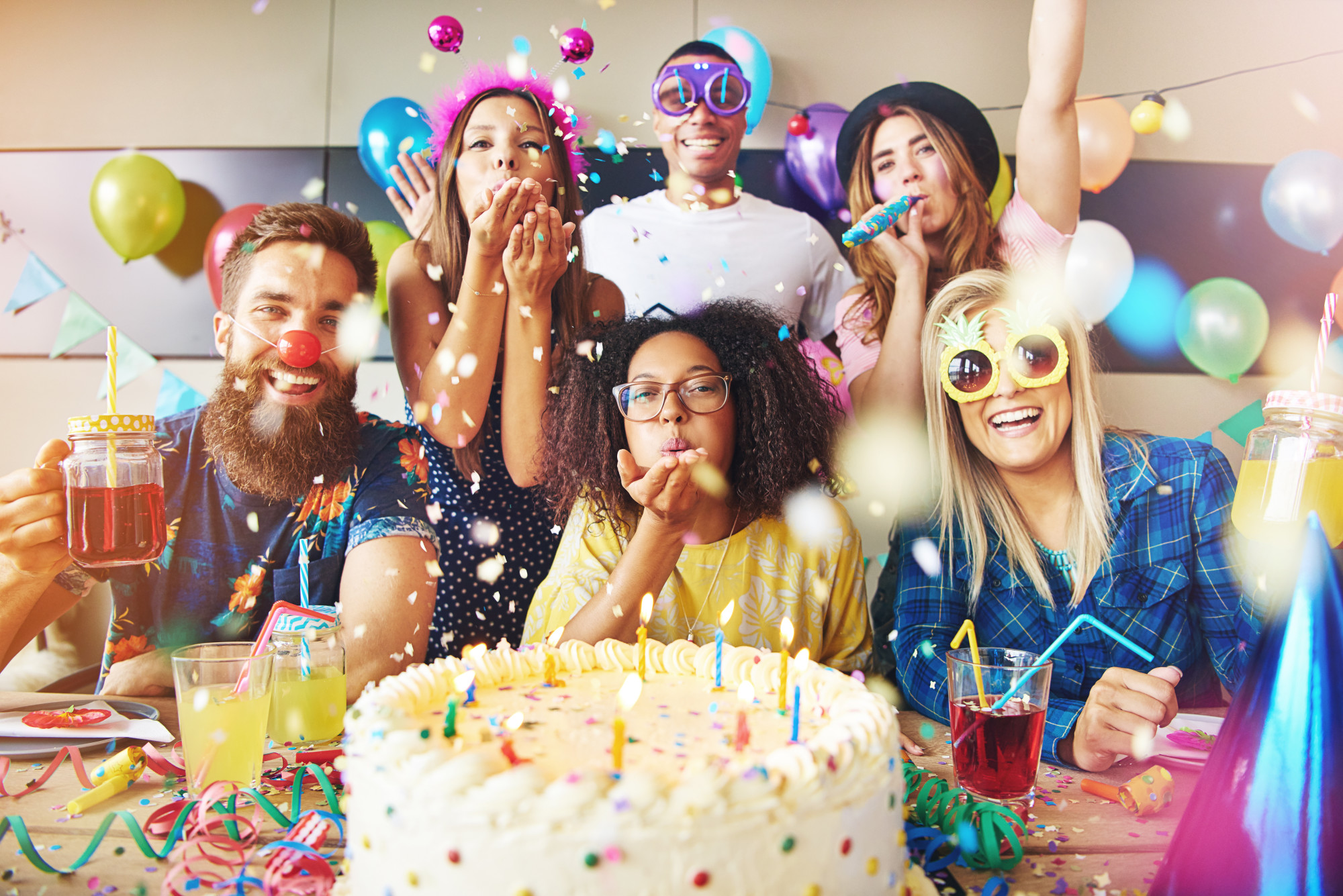 adults having birthday party
