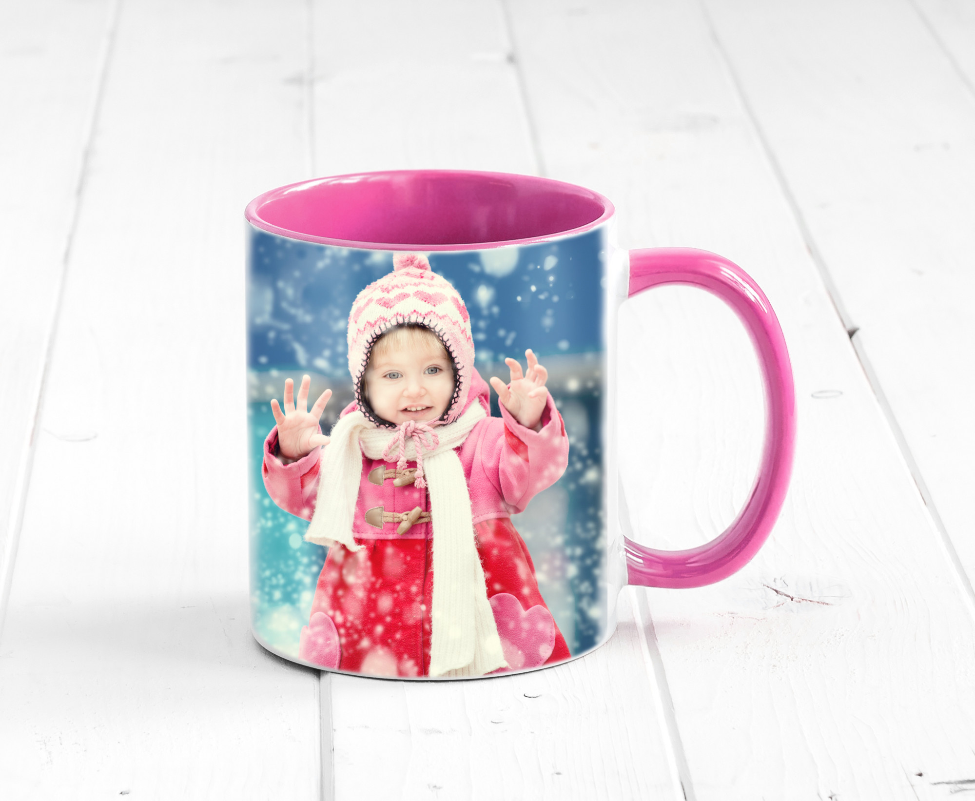 personalized mug with picture of girl