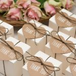 wedding favors on table
