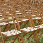 Folding Wooden Chairs for an Outdoor Event