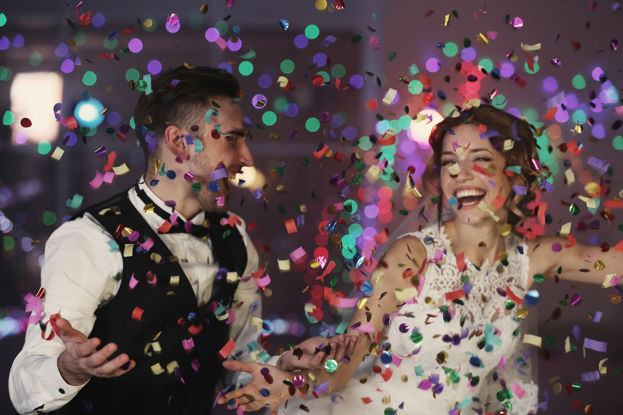Epic Wedding Entertainment with Confetti